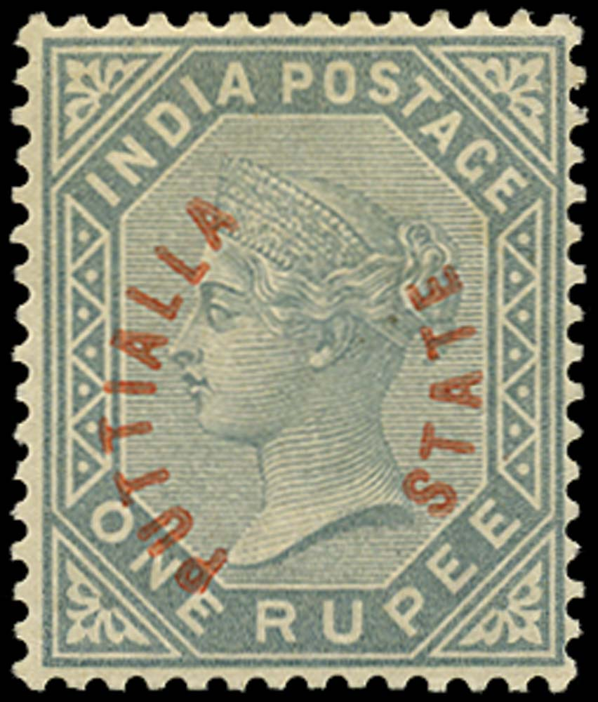 I.C.S. PATIALA 1884  SG6 Mint
