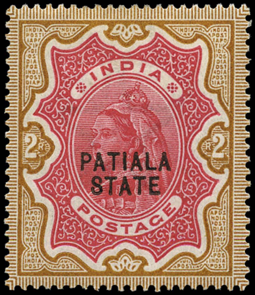 I.C.S. PATIALA 1891  SG29 Mint