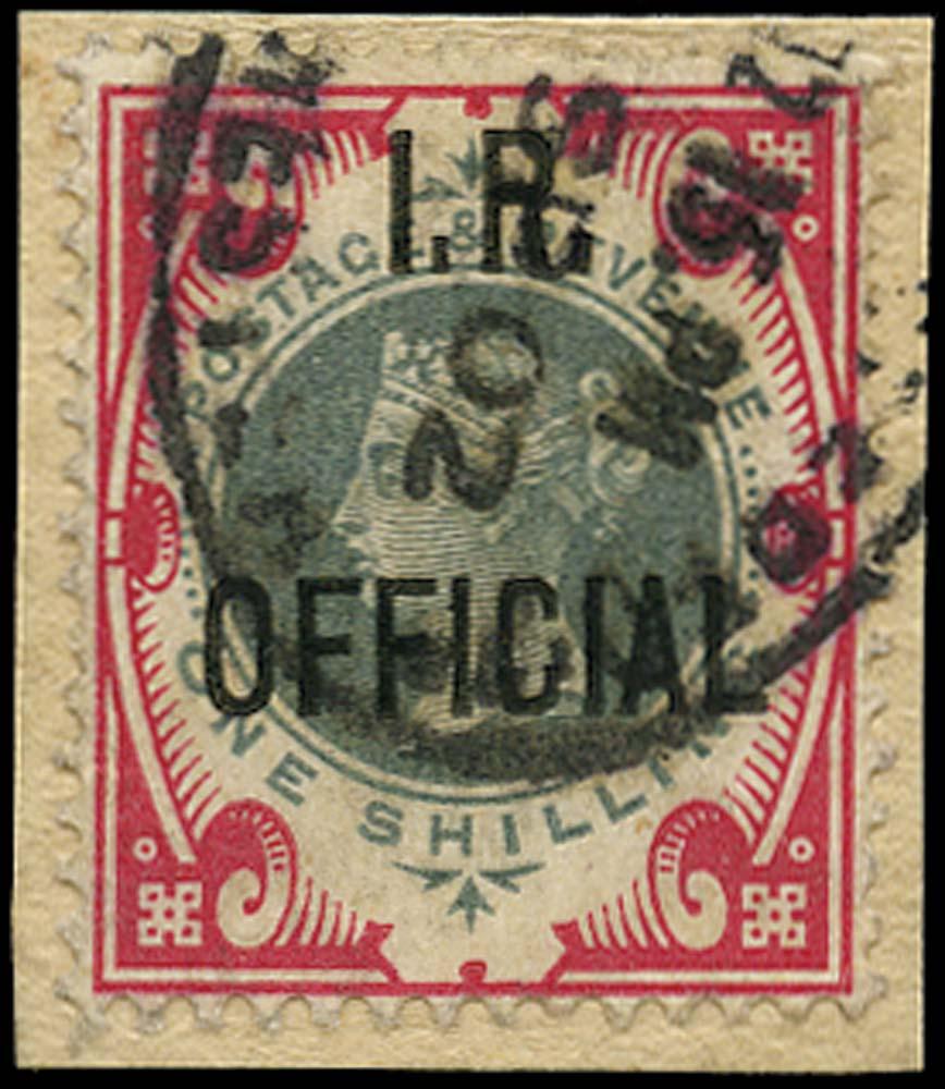 GB 1901  SGO19 Used Registered/Manchester datestamp