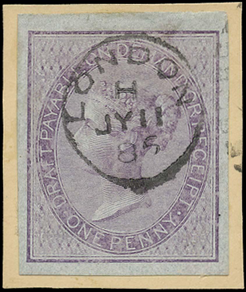 GB 1855  SGF5var Postal Fiscal - Imprimatur