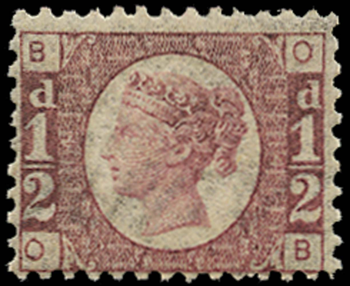GB 1876  SG48 Pl.14 Mint unmounted o.g. (OB)