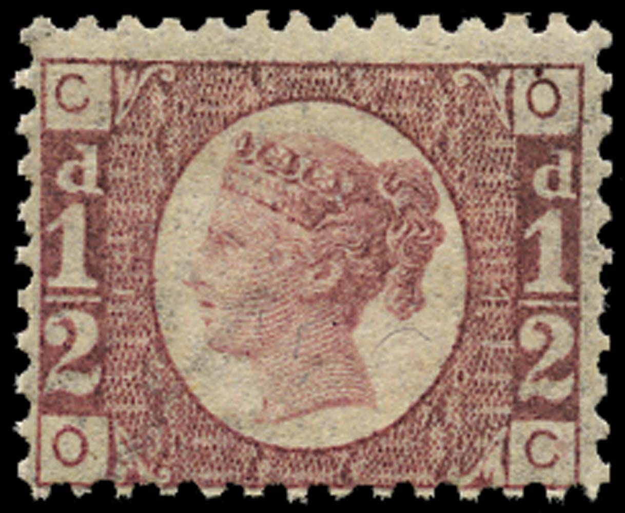 GB 1876  SG48 Pl.14 Mint unmounted o.g. (OC)