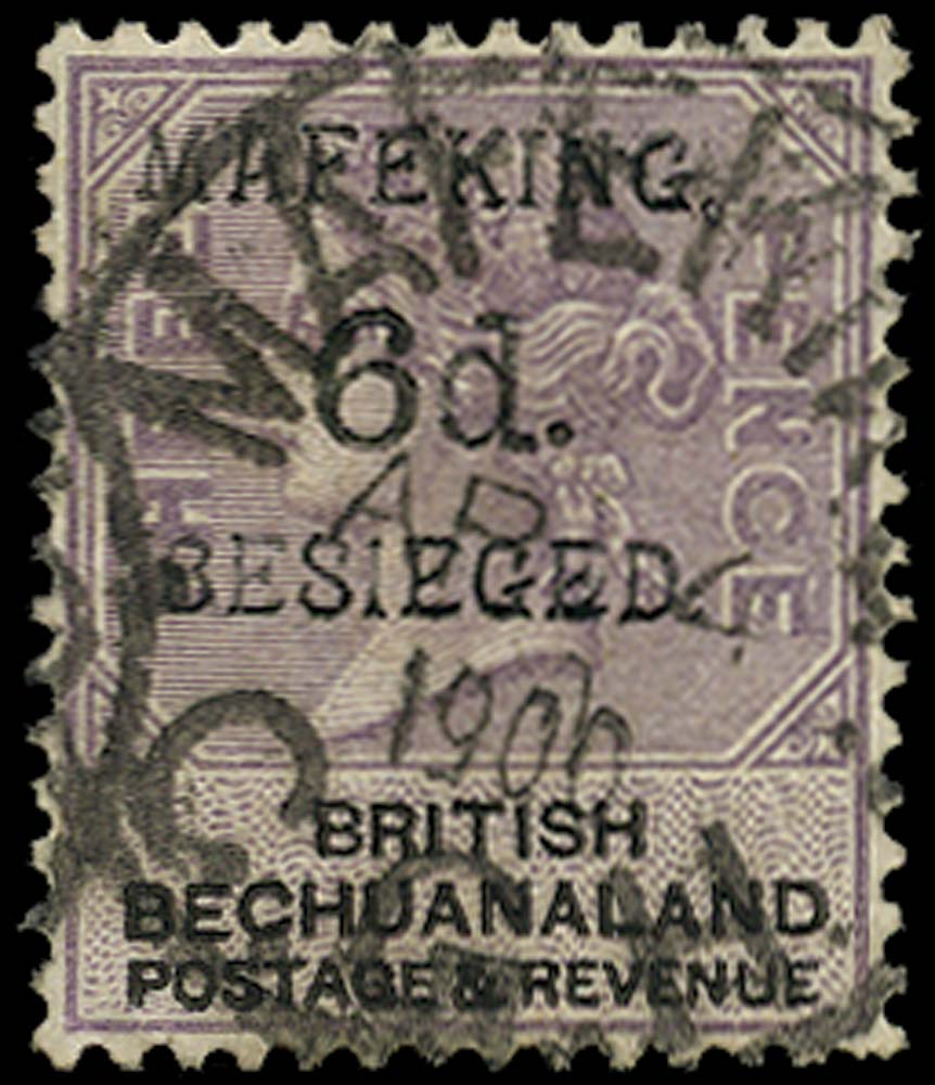 C.G.H. - MAFEKING 1900  SG10 Used 6d on 3d lilac and black position 3