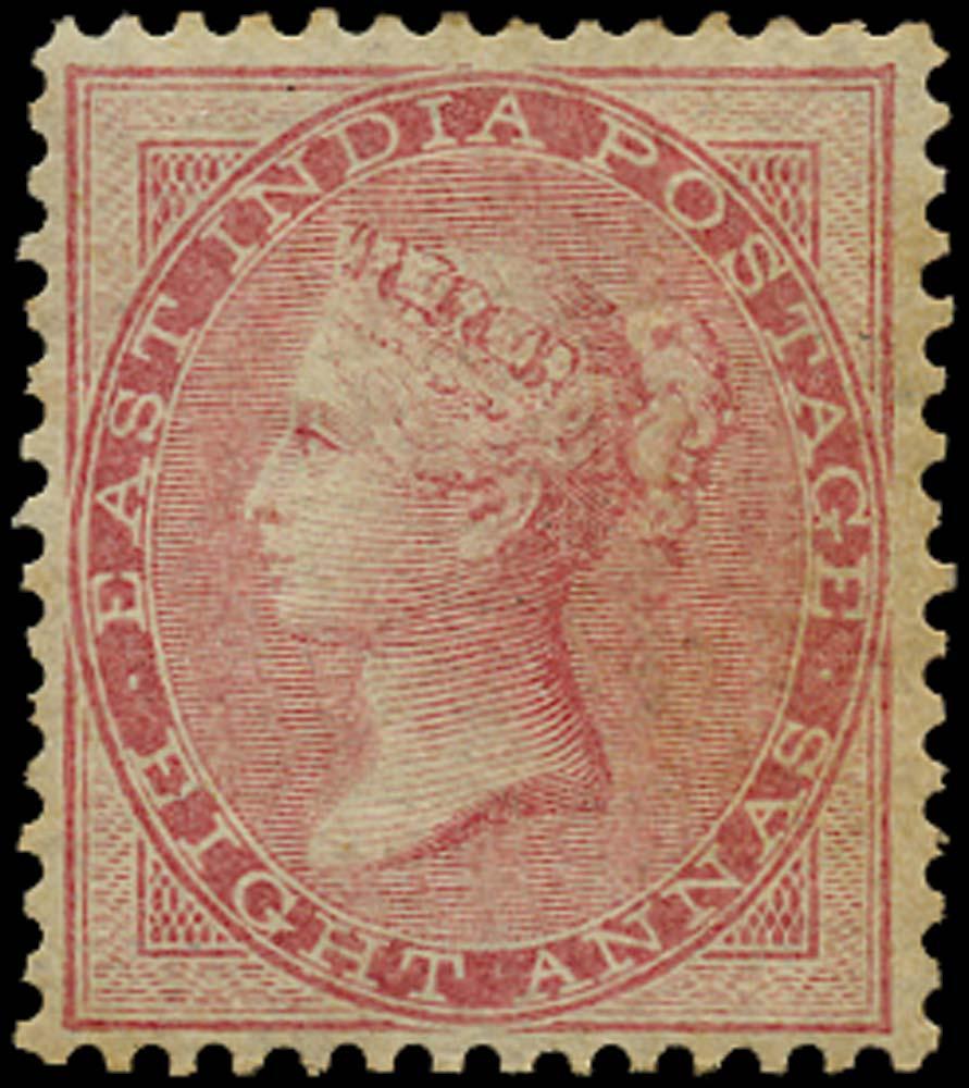 INDIA 1856  SG49 Mint 8a pale carmine no watermark