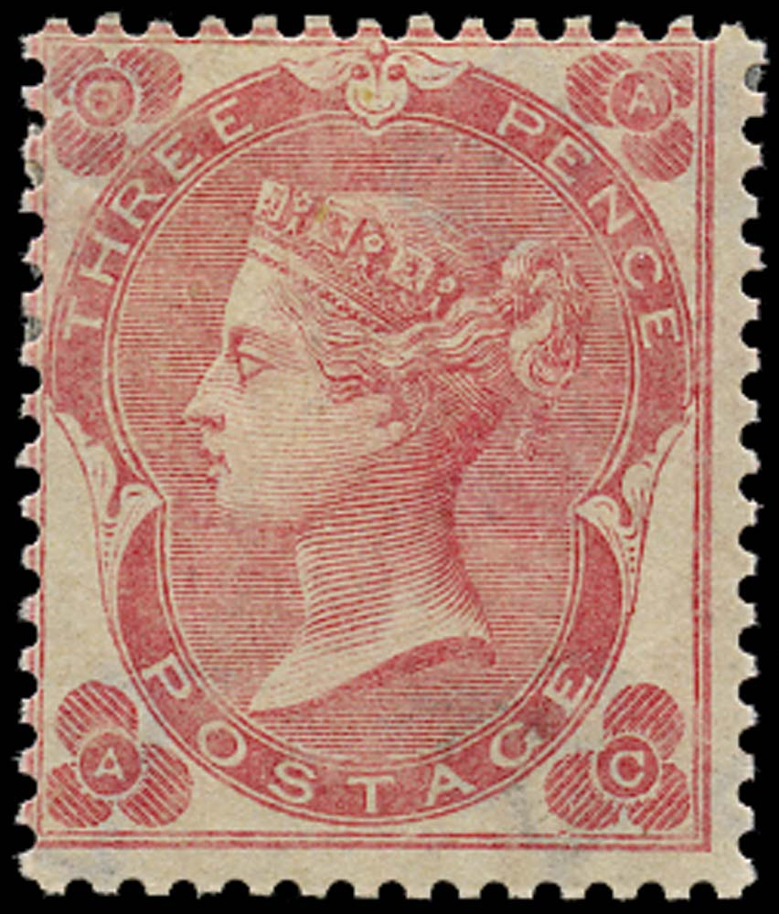 GB 1862  SG76 Pl.2 Mint unused o.g. (AC)