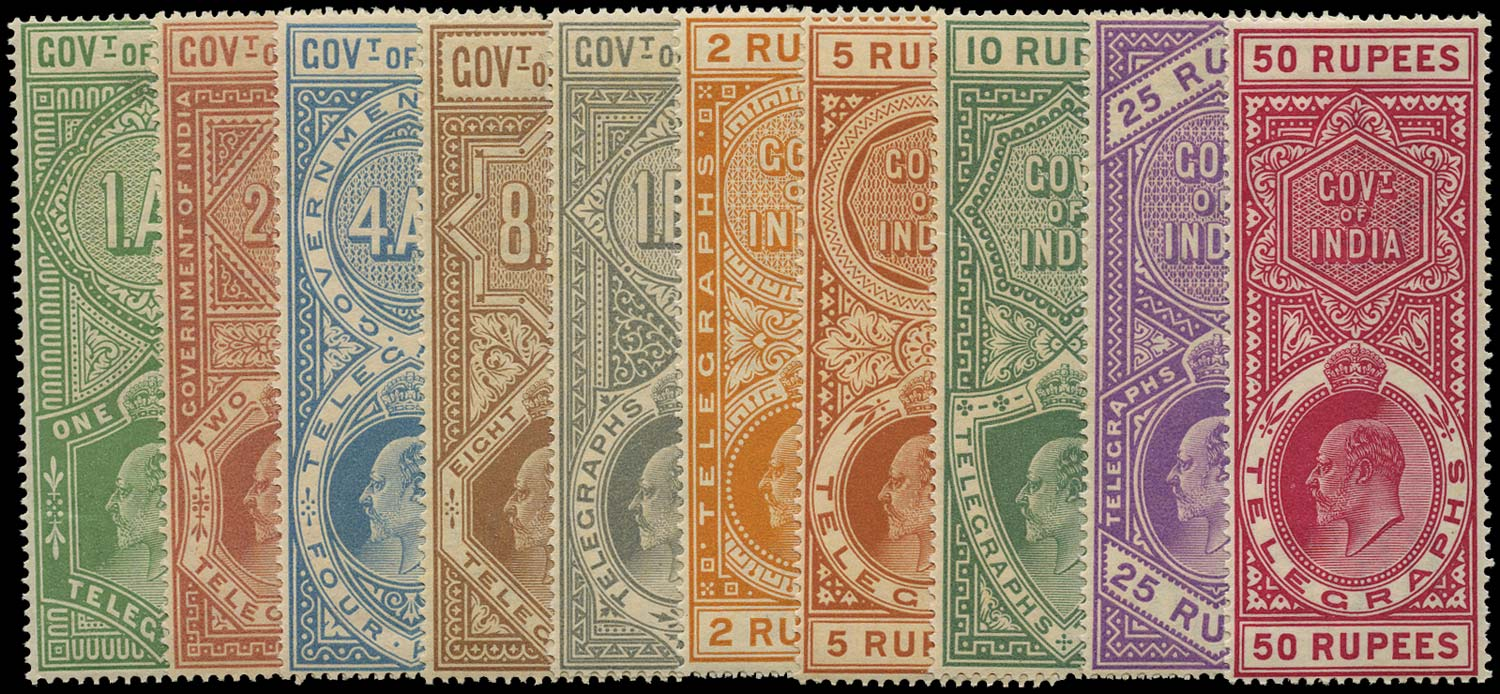 INDIA 1904  SGT56/65 Telegraph 1904 KEVII set to 50r unmounted