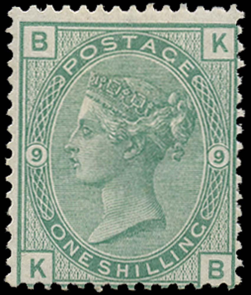 GB 1874  SG150 Pl.9 Mint unused o.g. (KB)