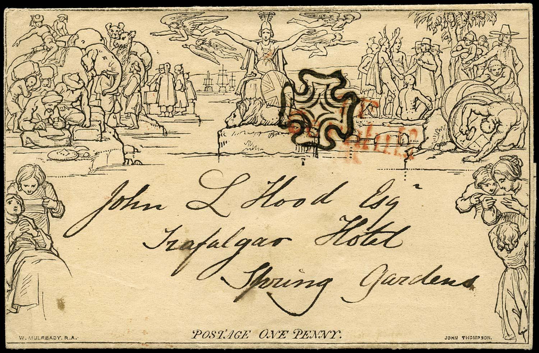 GB 1840  SGME1 Cover Mulready lettersheet, London MC