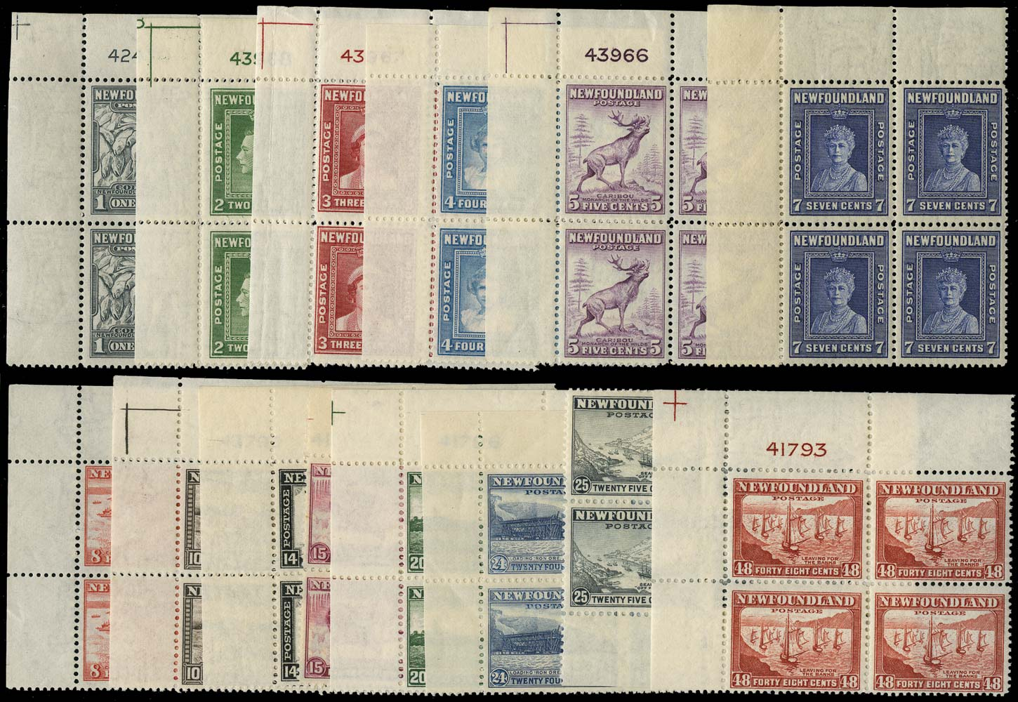 NEWFOUNDLAND 1941  SG276/89 Mint perf 12½ set of 14 to 48c