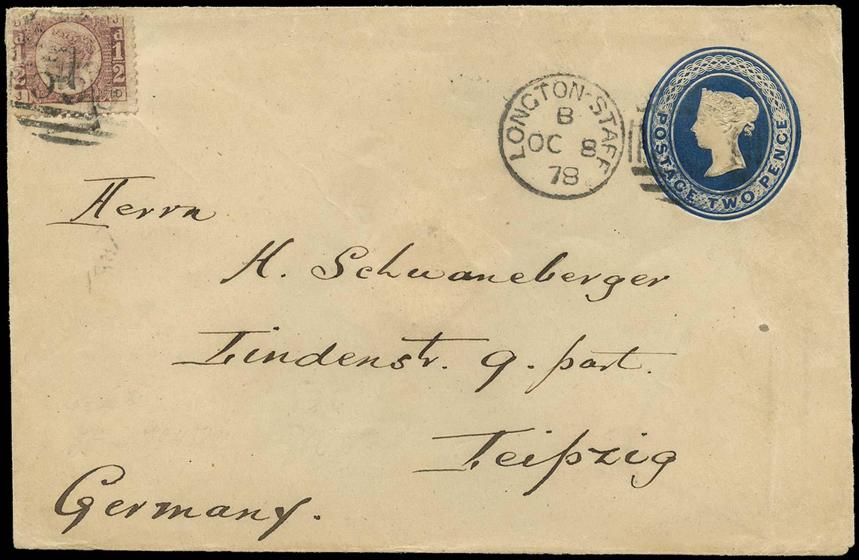 GB 1841 Cover 2d blue envelope