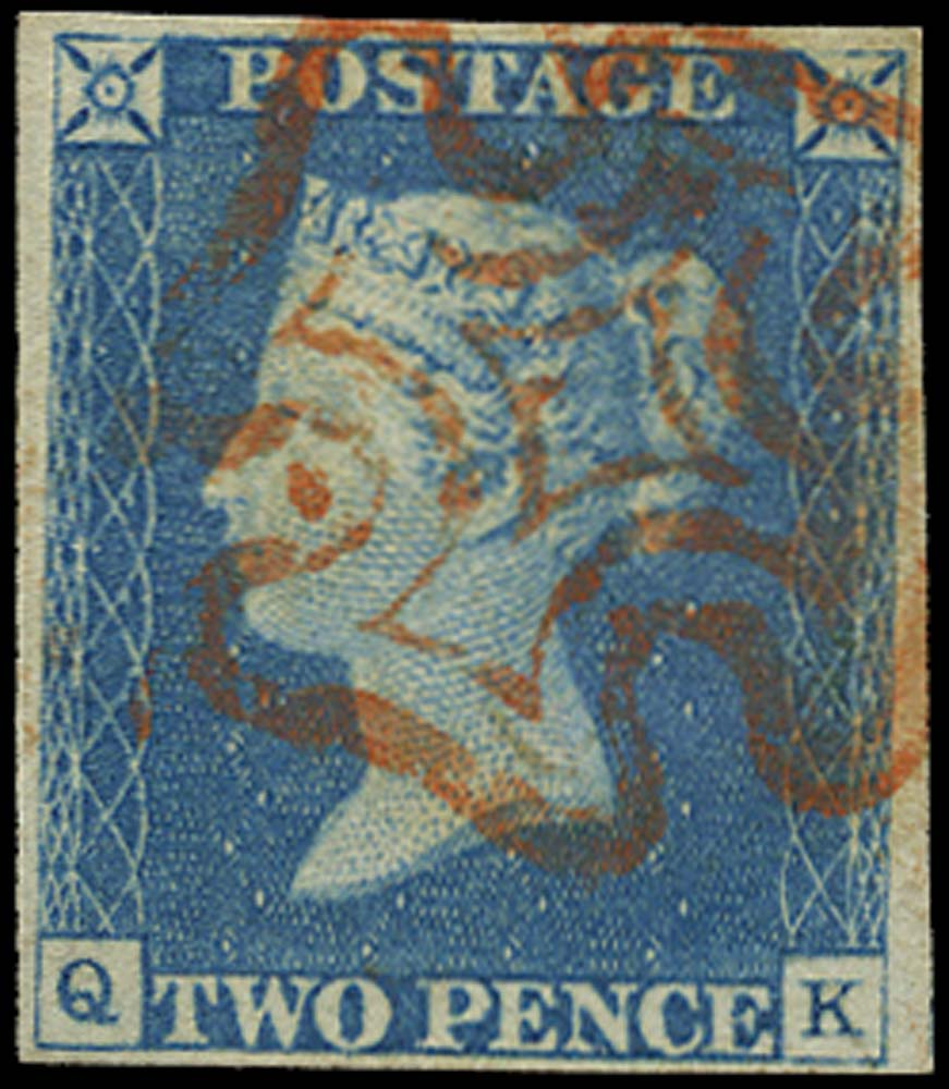 GB 1840  SG5 Pl.1 Used VFU example red MC (QK)