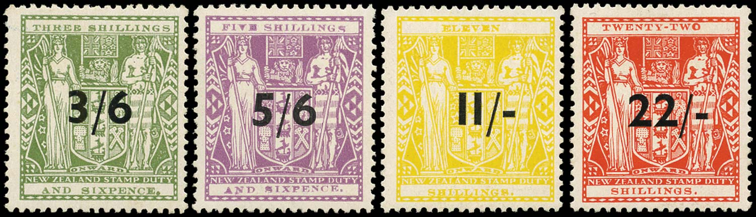 NEW ZEALAND 1940  SGF187/90 Mint Arms single watermark set of 4