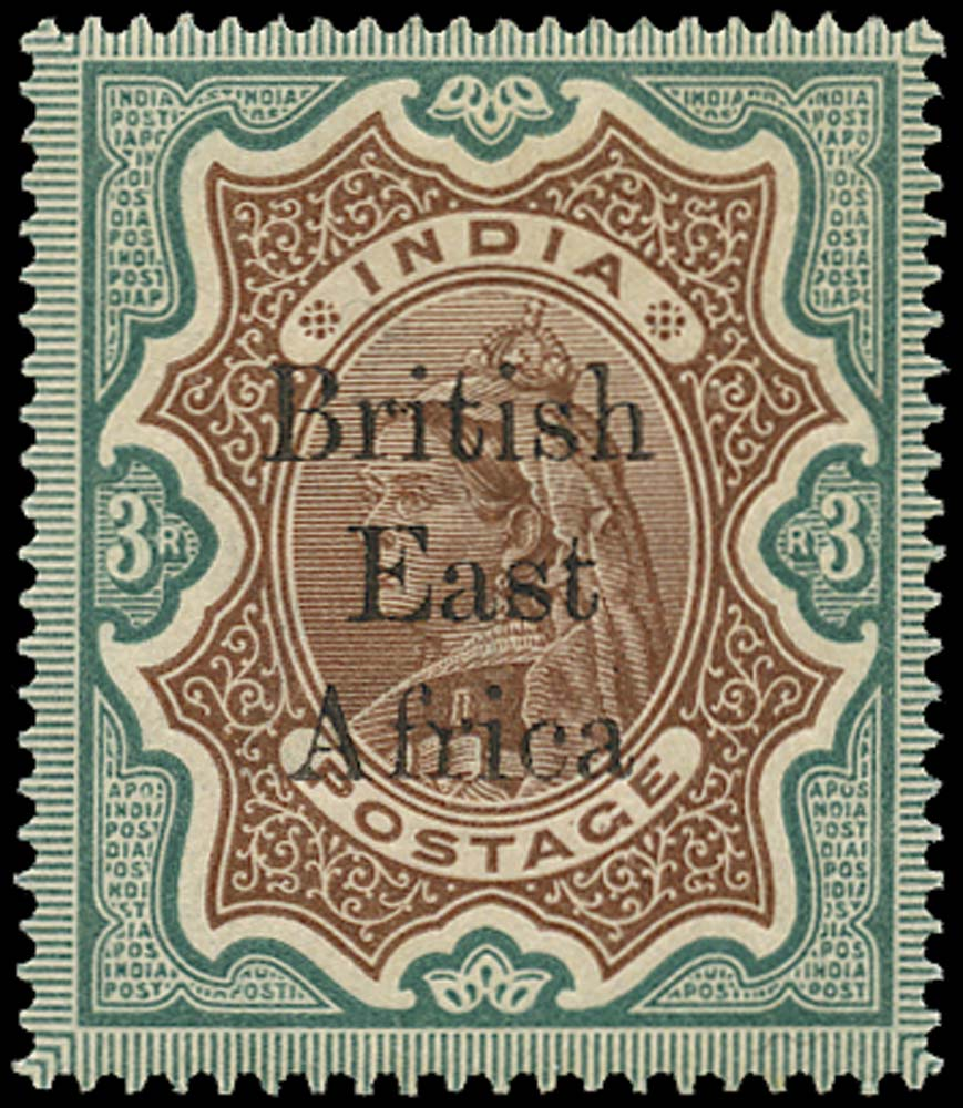 BRITISH EAST AFRICA 1895  SG62 Mint 3r type 9 overprint on India