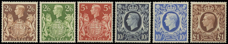 GB 1939  SG476/8c Mint U/M set of