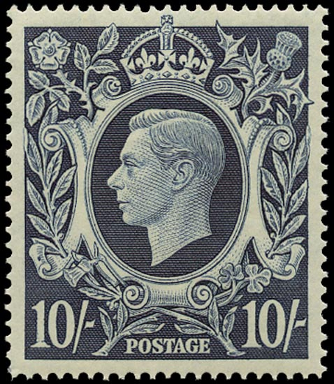 GB 1939  SG478ab Mint U/M o.g. blot on scroll variety