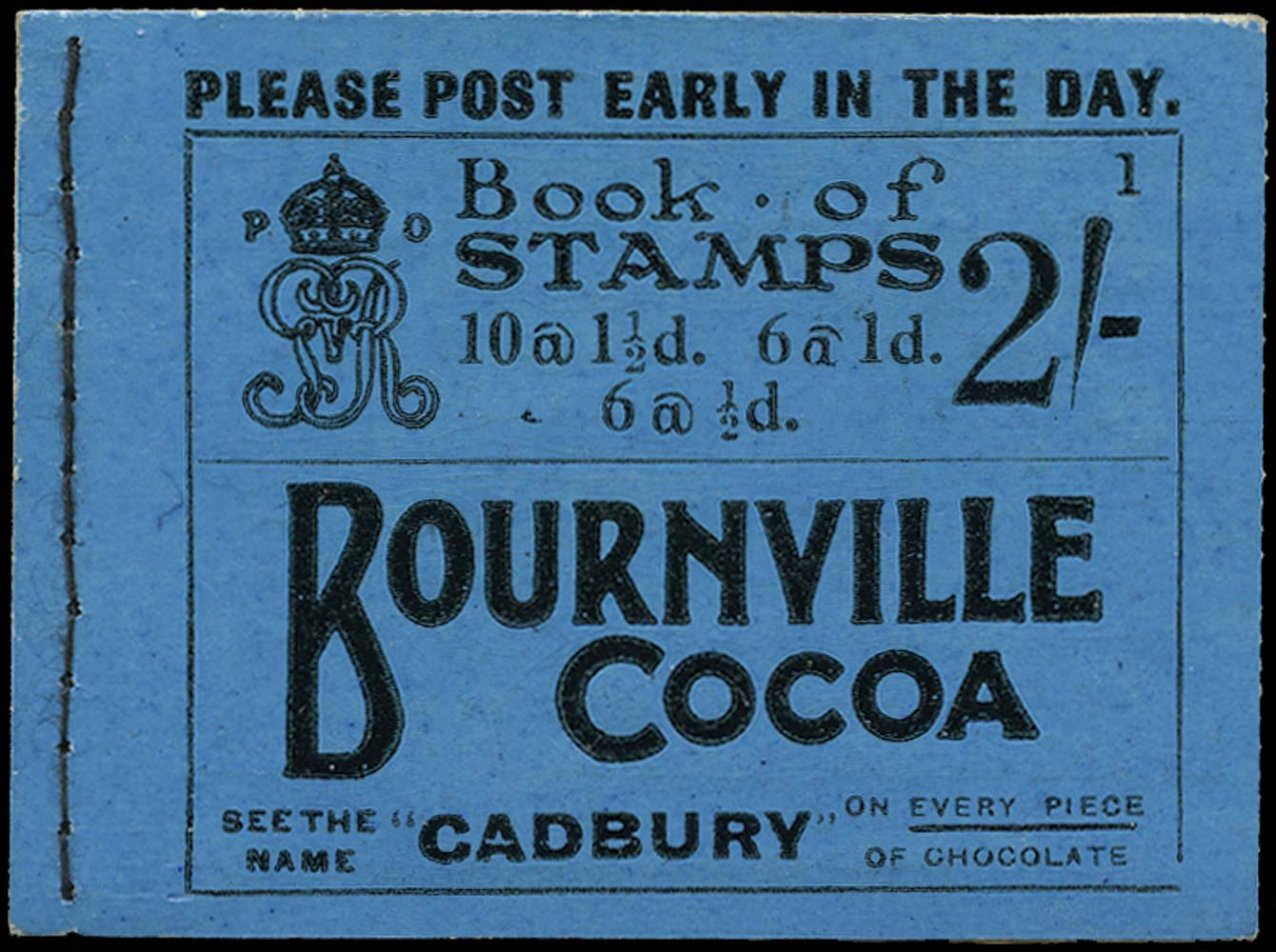 GB 1924  SGBB11 Booklet (Edition No. 1). Superb