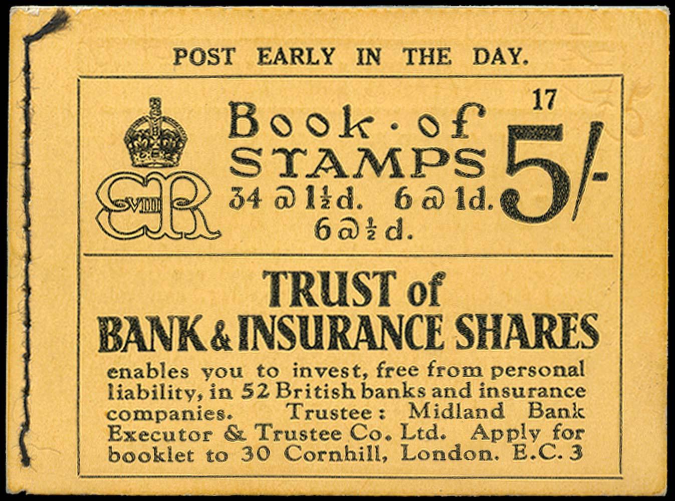GB 1937  SGBC4 Booklet (Edition No. 17).