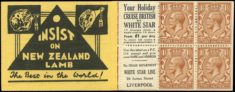 GB 1924  SG420d Booklet pane - Advert 34