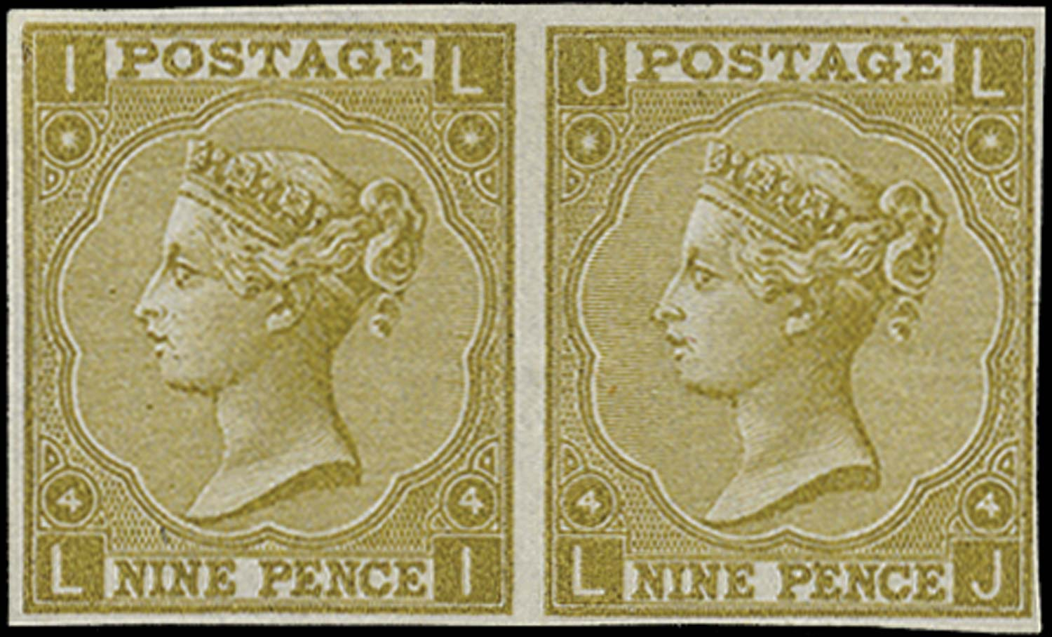 GB 1865  SG98 Pl.4 Plate Proof Unused o.g. (PJ)