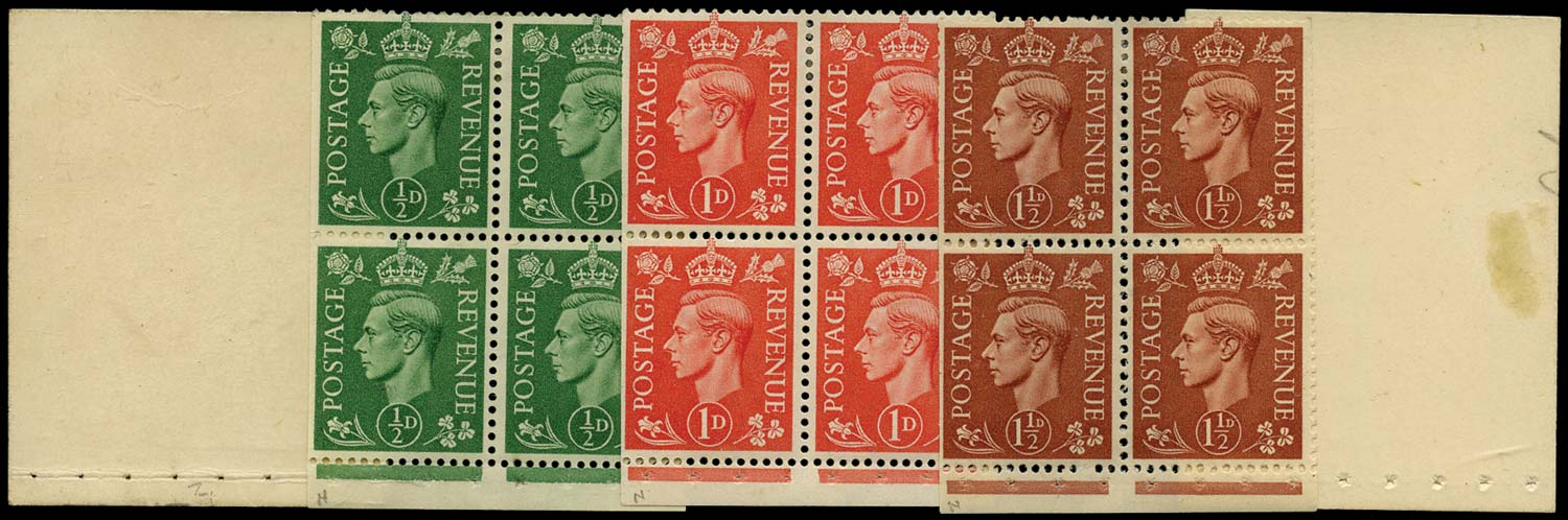 GB 1948  SGBD6 Booklet pane rare exploded booklet