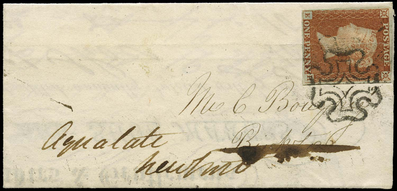 GB 1841  SG8 Pl.27 Cover miniature envelope