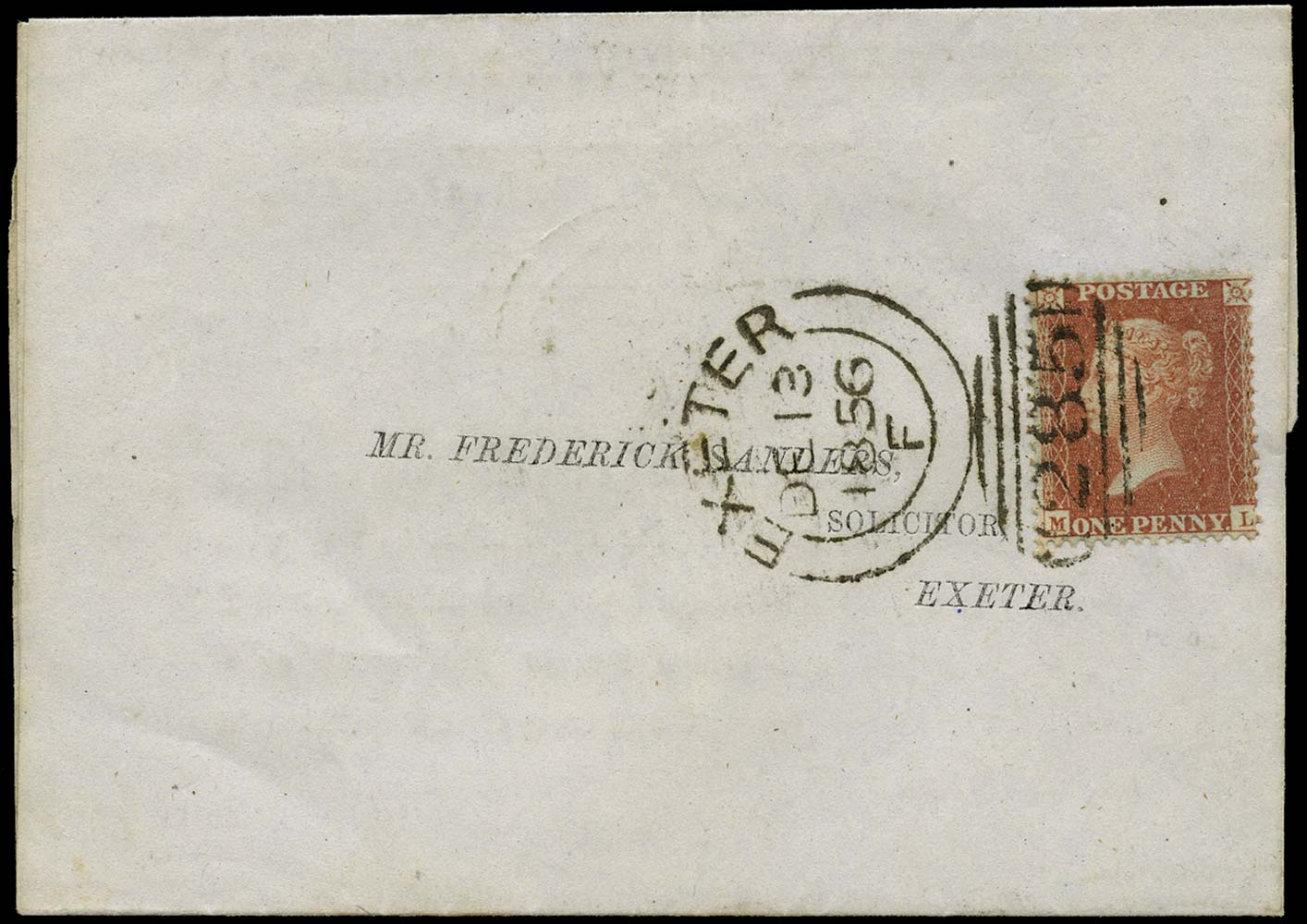 GB 1856  SG29 Pl.42 Cover