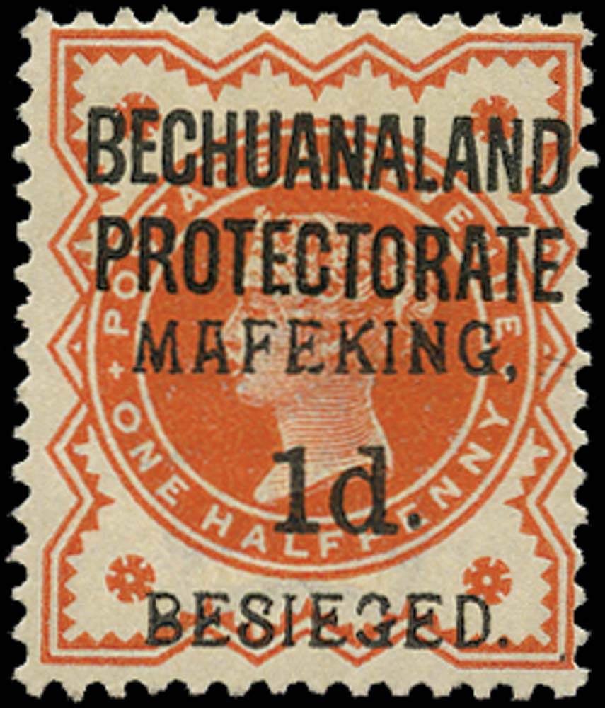 C.G.H. - MAFEKING 1900  SG6 Mint 1d on ½d orange pos.4 of the setting
