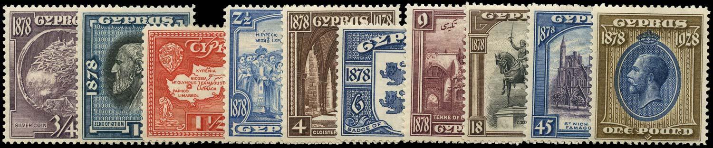 CYPRUS 1928  SG123/32 Mint 50th Anniversary of British Rule