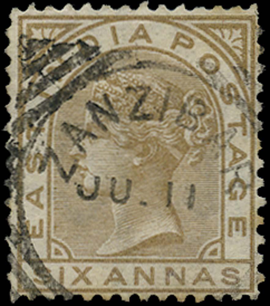 ZANZIBAR 1876  SGZ45 Cancel