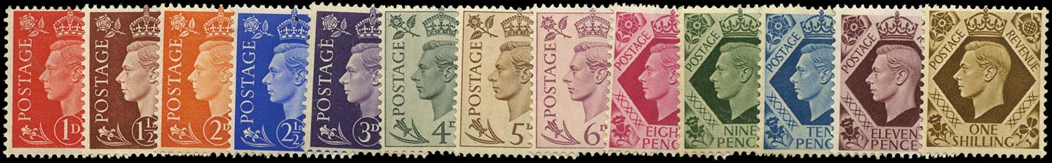 GB 1937  SG462/75 Mint U/M set fifteen