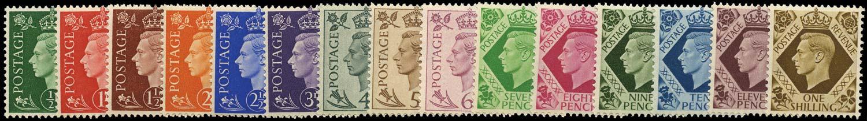 GB 1937  SG462/75 Mint U/M set fifteen