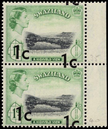 SWAZILAND 1961  SG66a Mint