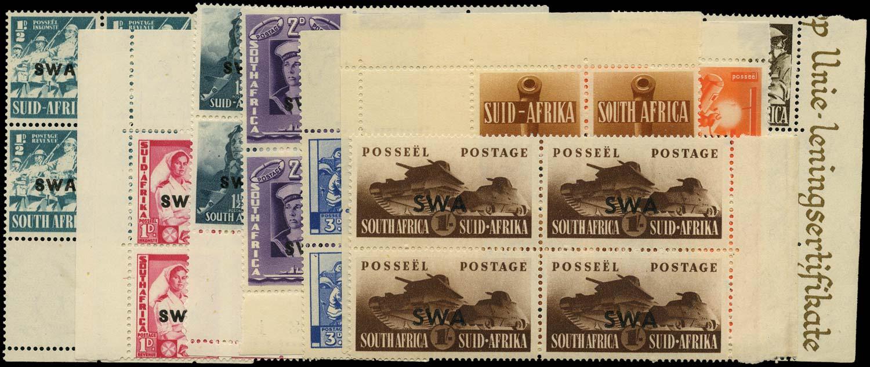 SOUTH WEST AFRICA 1941  SG114/22 Mint War Effort set of 7 to 1s3d