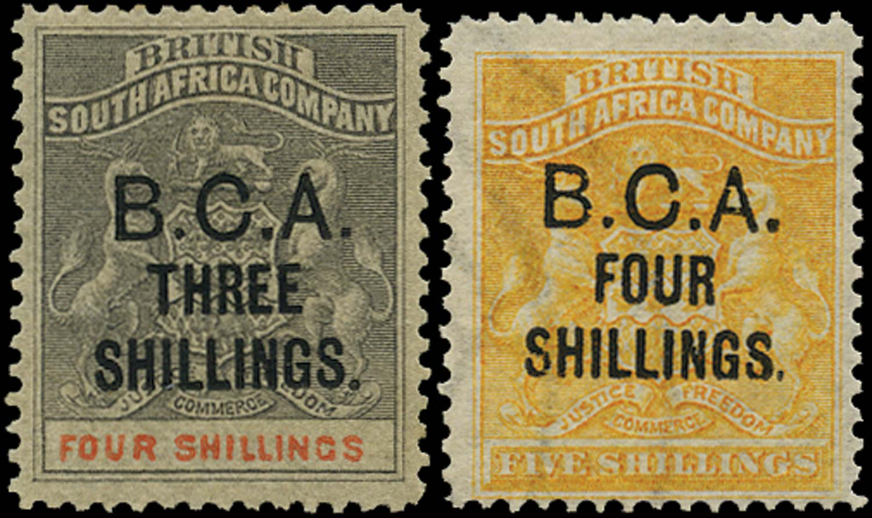 NYASALAND 1892-3  SG18/19 Mint