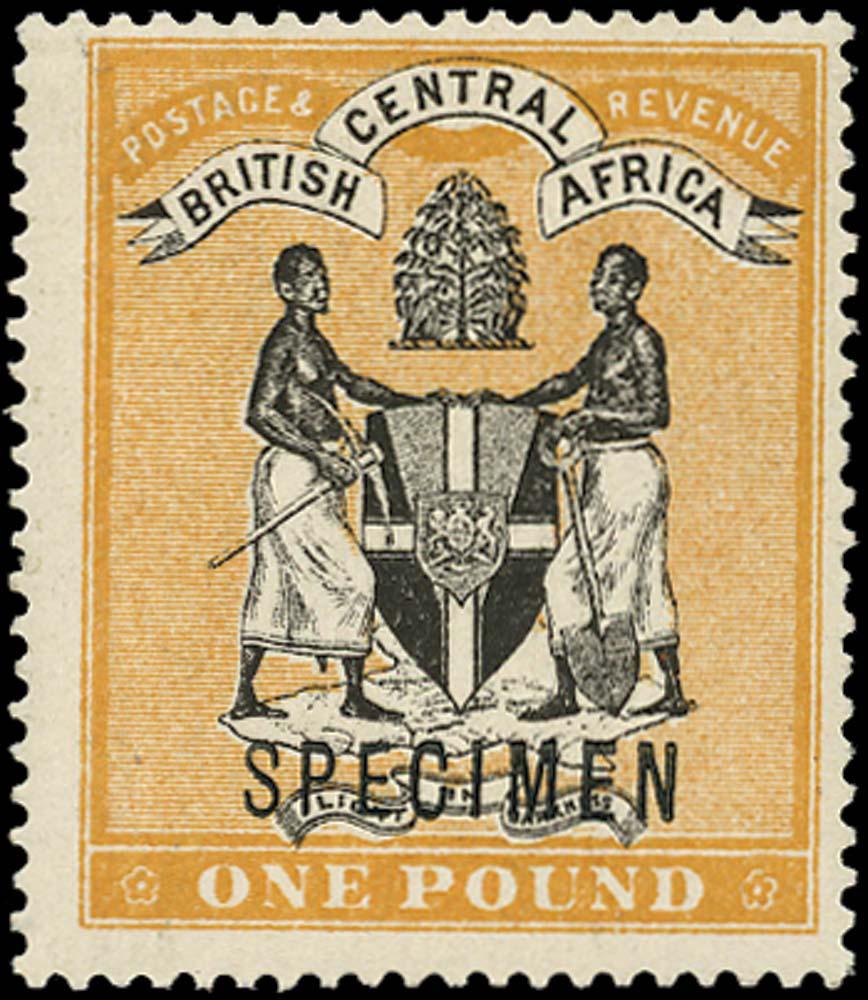 NYASALAND 1895  SG29s Specimen