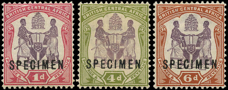 NYASALAND 1901  SG57ds/58s Specimen
