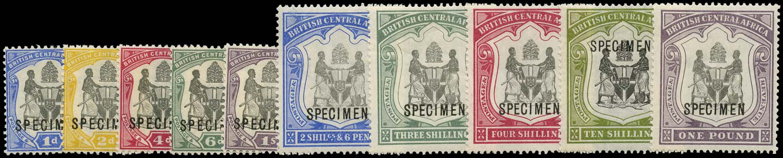 NYASALAND 1897-1900  SG43s/51s Specimen