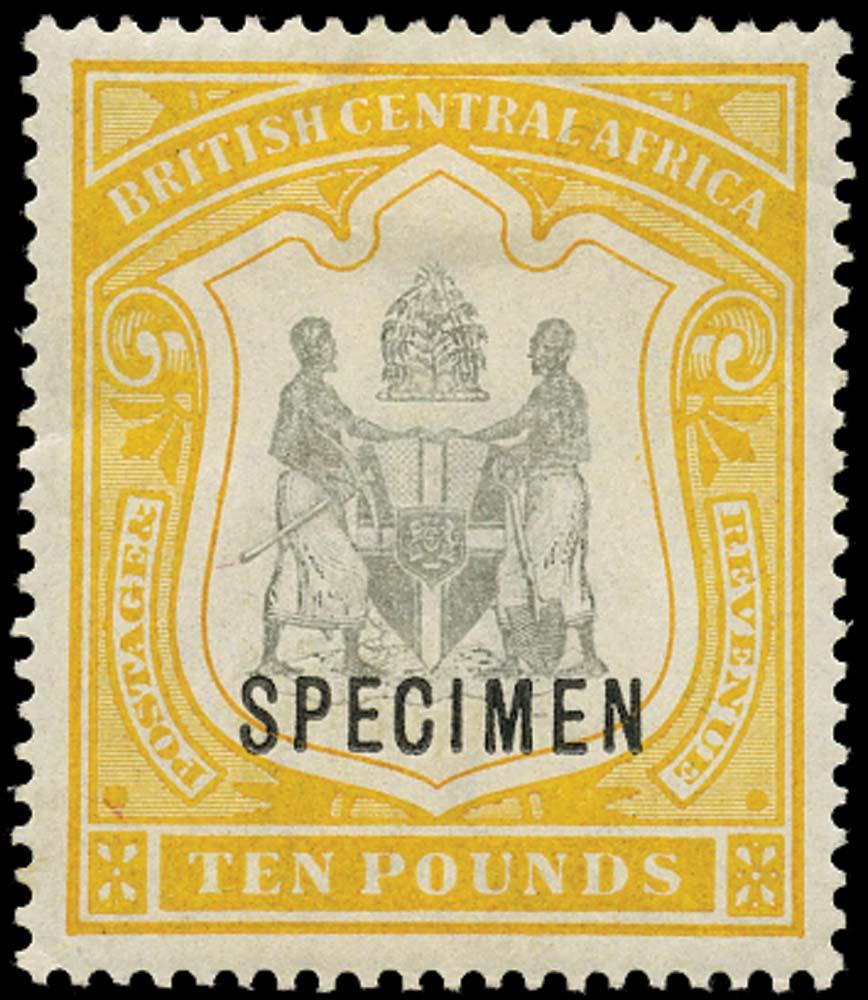 NYASALAND 1897  SG52s Specimen