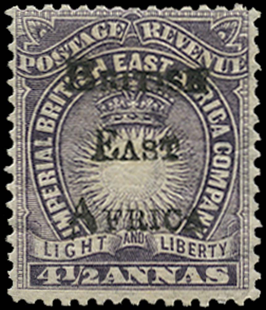 BRITISH EAST AFRICA 1895  SG39 Mint
