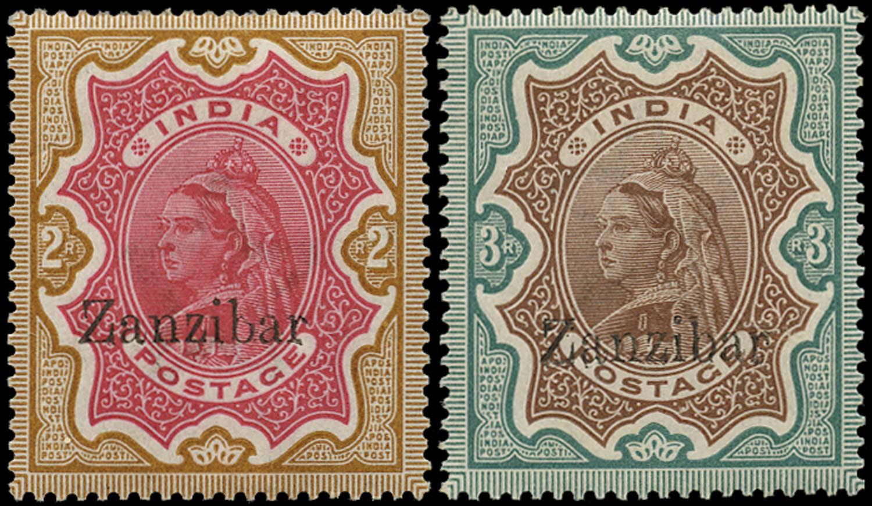 ZANZIBAR 1895  SG19C, 20C Mint