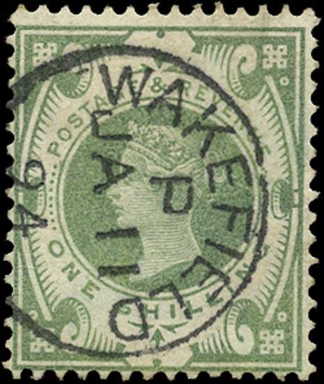 GB 1887  SG211 Used Wakefield cds