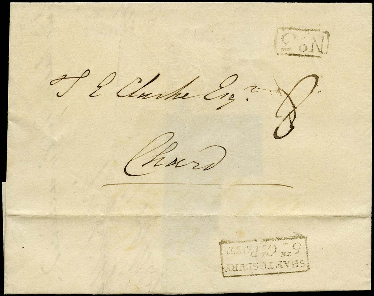 GB 1828 Pre-Stamp Shaftsbury 5th Clause Post