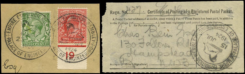 GB 1924  SG218, 351 Used British Empire Exhibition, Palace of engineering