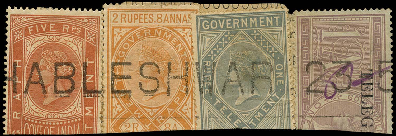 INDIA 1881  SGT21, T9, 11/12 Telegraph