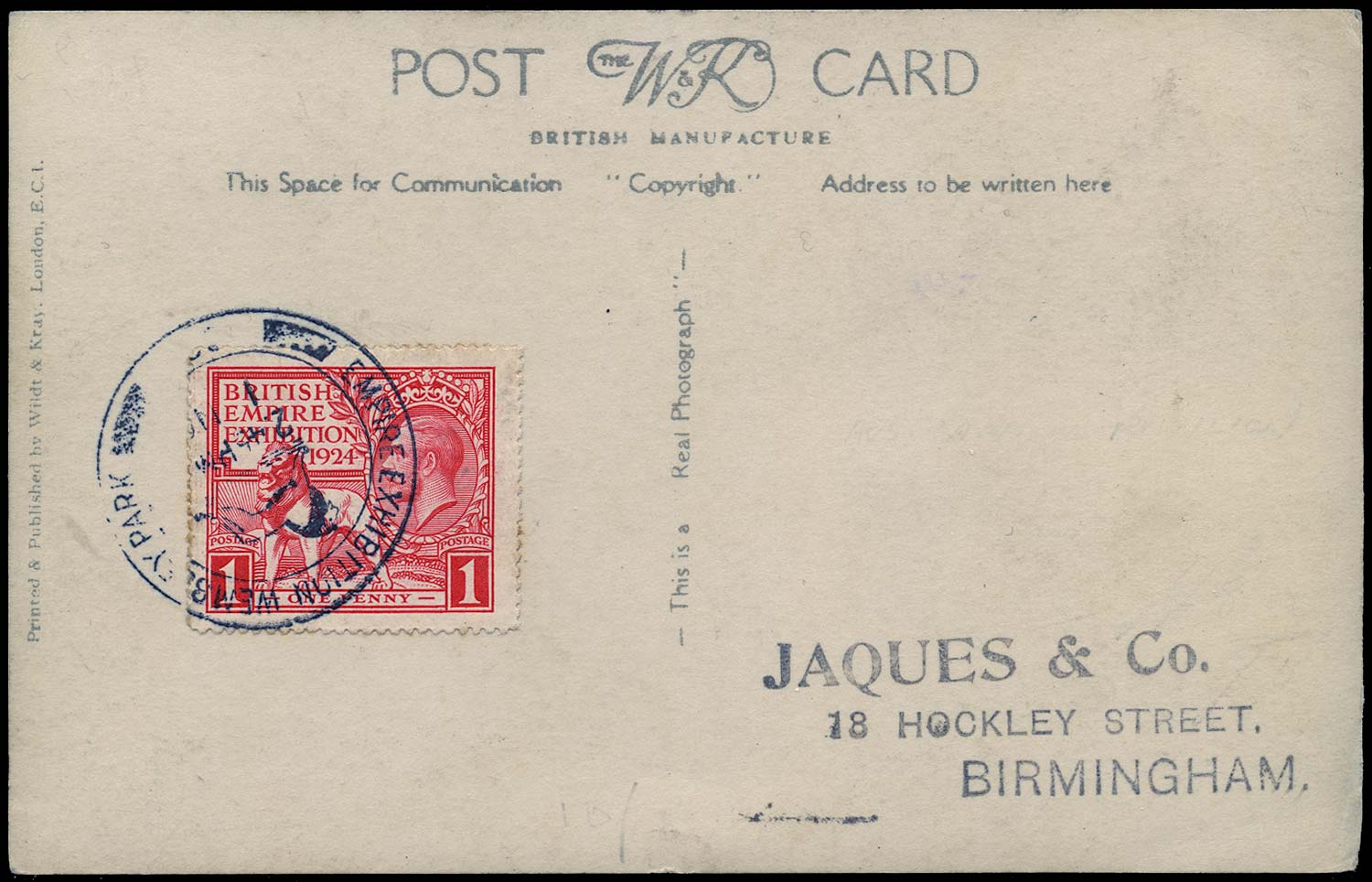 GB 1924  SG430, 432 Cover British Empire Exhibition 1d first and last days