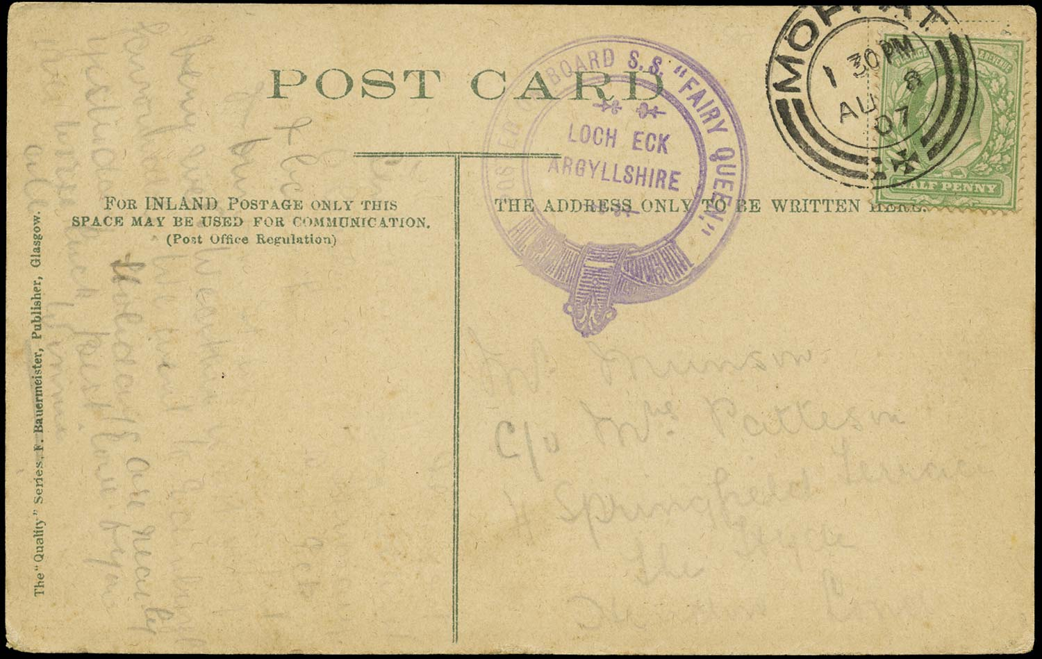 GB 1907  SG218 Cover