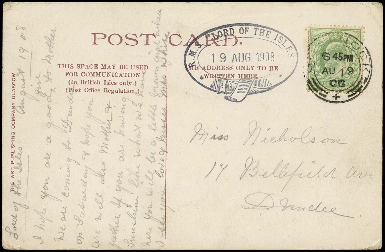 GB 1908  SG218 Cover