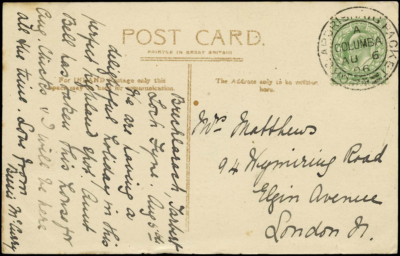 GB 1906  SG218 Cover