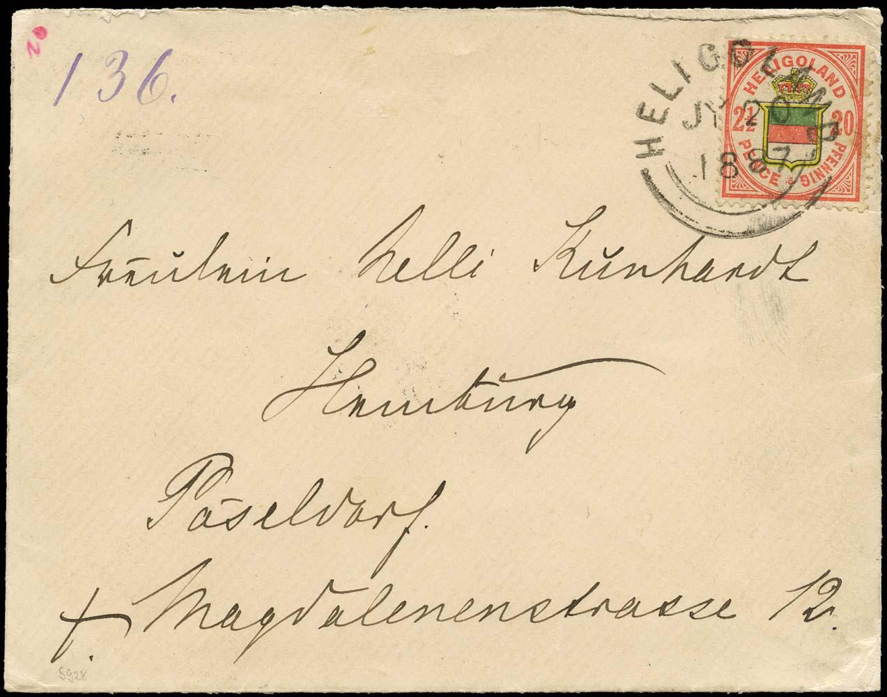 HELIGOLAND 1887  SG15b Cover
