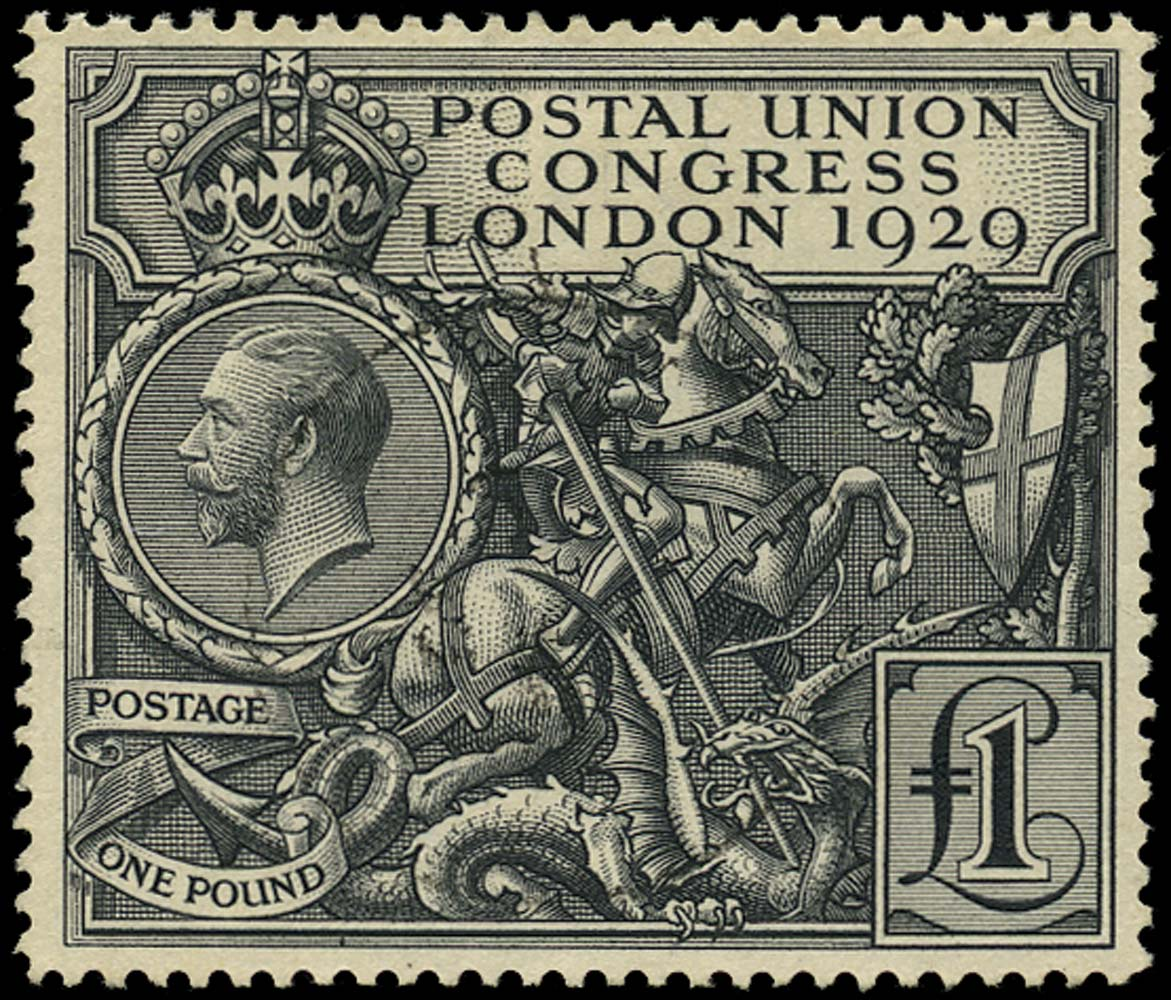GB 1929  SG438 Used £1 Postal Union Congress